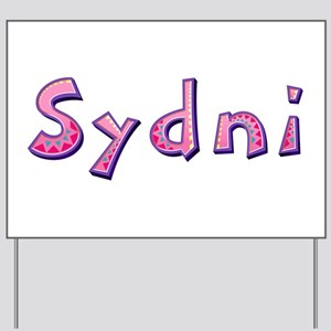 Sydni Pink Giraffe Yard Sign